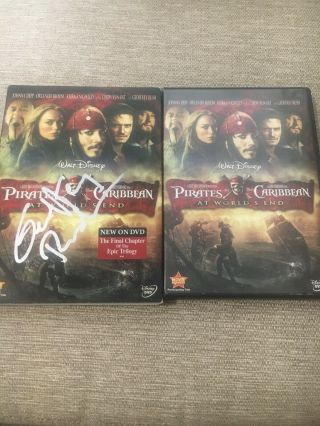 Geoffrey Rush Signed Pirates Of The Caribbean 3 Dvd