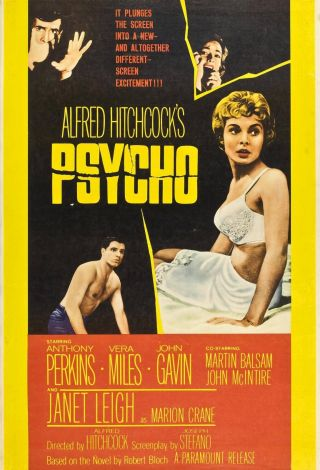 """"""" Psycho """".  Alfred Hitchcock"""