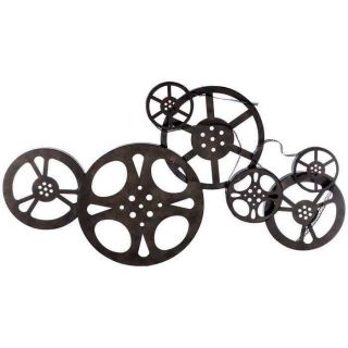 Nostalgic Cinematic Vintage Style Movie Reel Wall Decor Home Theater Sculpture