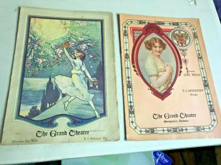 45 Theatre Playbills,  Circa 1899/1910