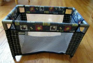 Tollytots Graco Doll Playpen Pack N Play,  Blue,  Comes Apart
