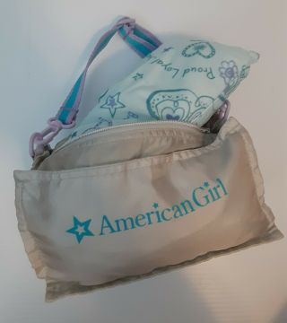 American Girl Doll Reversible Sleepover Sleeping Bag And Pillow Doll Not Incl
