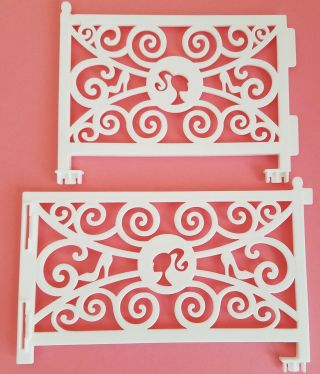 Barbie Dream House 2 White Railings Replacement Parts