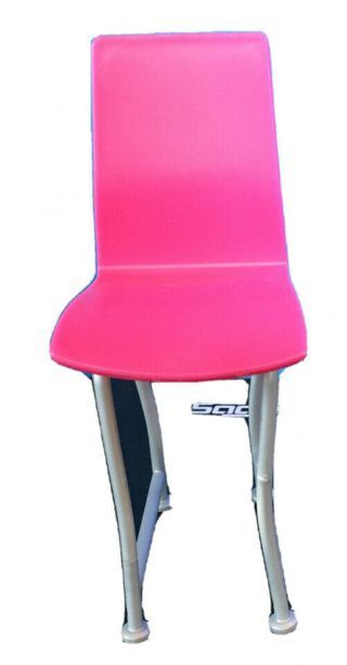 """6"""" Talk Pink And Gray Chair/bar Stool 2"""" Wide Smoke Great Addition"""