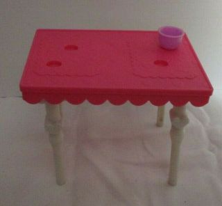 Barbie Small Pink & White Table Furniture