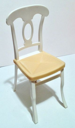 Barbie Doll Size Yellow & White Chair