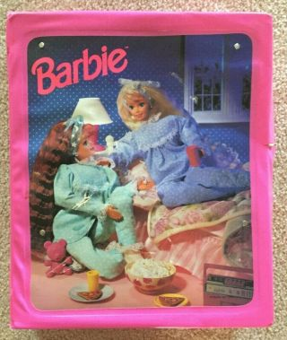 Barbie Carrying Case W/ Fold Out Bed - Mattel - 1995