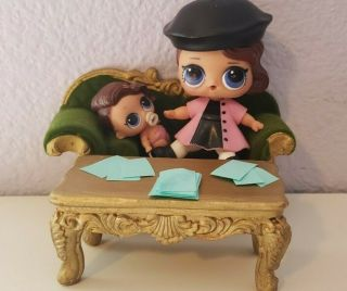 Lol Doll Furniture Couch Or Loveseat And Table (dolls Not)