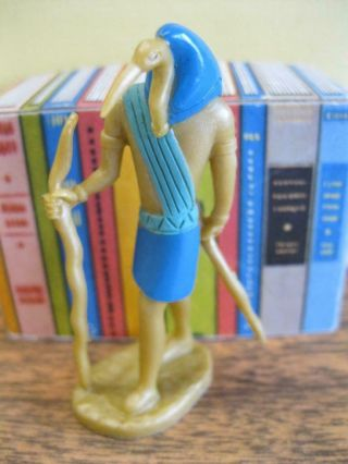 """Barbie Goes To Egypt My Doll House Decor Living Room - Egyptian Thoth Statue 2.  5 """""""