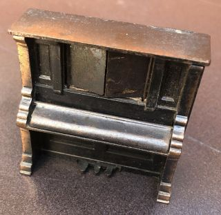 Miniature Upright Metal Piano Durham Industries Made In Hong Kong 1976