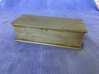 Dollhouse Miniature Wooden Painted Nautical Chest W Rope Handles 1:12