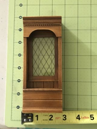 Dollhouse Miniatures Wood Wall Cabinet/bench Seat 1980s