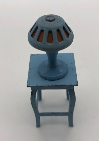 Miniature Dollhouse Furniture Set Of Table And Lamp