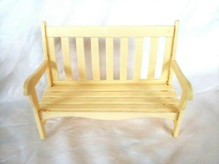 Barbie Size Patio Bench - Outdoor Furniture - Cream Color - Sitting Bench - Plastic