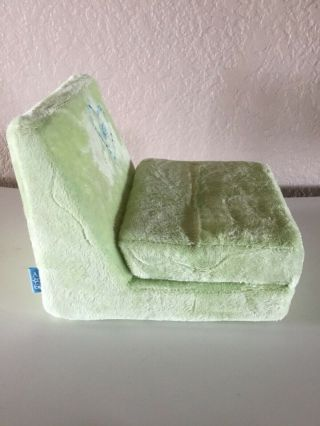 American Girl Green Plush Fold Up Flip Out Lounge Chair Couch