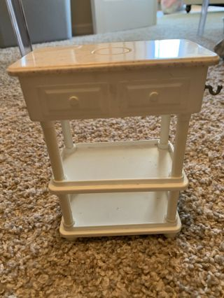 Barbie Dollhouse Furniture Accessory Kitchen Island Cupboard Replacement Part Pc