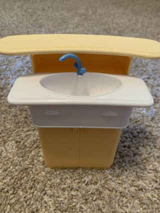Barbie Dollhouse Furniture Accessory Kitchen Sink Cupboard Replacement Part Pc
