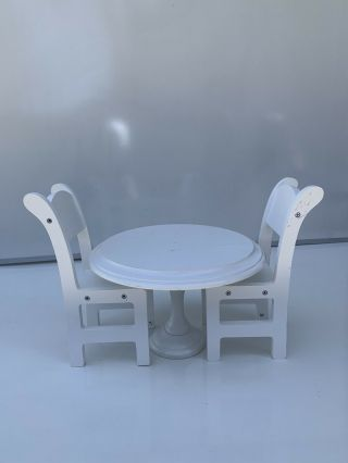 """Doll Table And Chairs 11"""" Rd Table"""