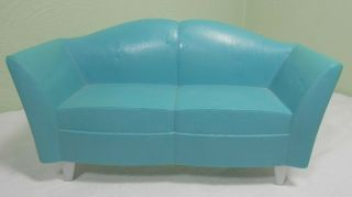 2007 Mattel Barbie Doll My Dream House Teal Blue Sofa Couch Furniture
