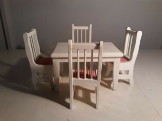 Dollhouse Miniature Kitchen Table Chairs Set 1:12 Really