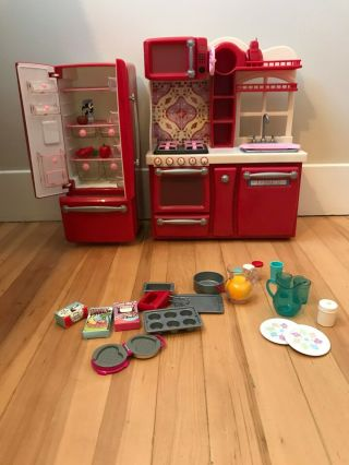 18 Inch Doll Play Kitchen With Accessories