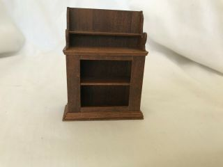Dollhouse Miniature Wooden Tabletop Or Wall Cabinet Shelves 1:12