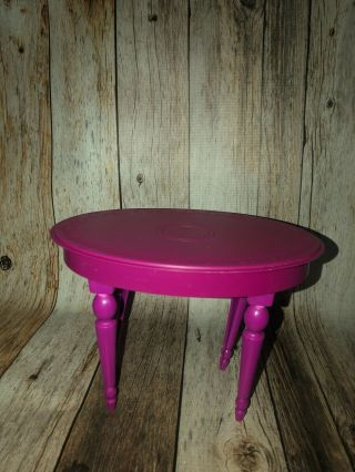 2008 Barbie Dream House Townhouse Purple Oval Kitchen Dining Room Table