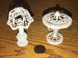 Dollhouse Miniature Metal Lamps - Alice Lacy?