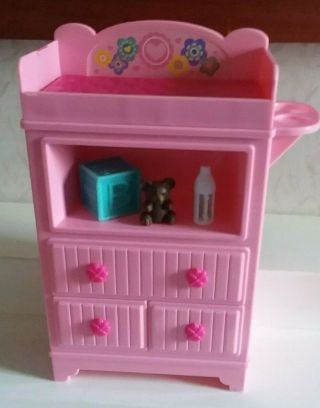 Barbie Baby 2013 Mattel Changing Table Dresser For Barbie Doll Babies