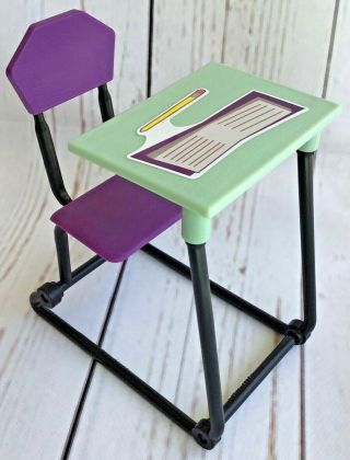 Monster High High School Doll Desk Replacement Furniture.  1
