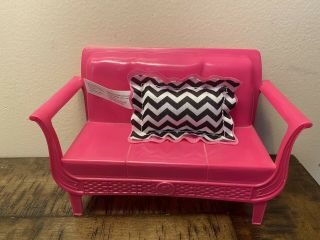 Barbie Pink Sofa Couch With Pillow Dollhouse Replacement