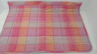 American Girl Pink Purple Plaid Blanket For Moons Stars Trundle Bed Flaw