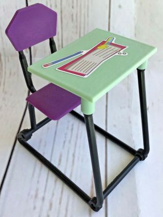Monster High High School Doll Desk Replacement Furniture.  2