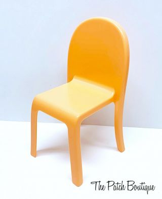 Mattel Barbie® Dreamhouse™ Playset Replacement Doll Size Orange Chair Part Only