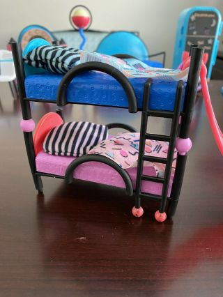 L.  O.  L Dollhouse Furniture,  Bunk Beds W/slide And Ladder