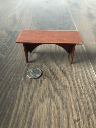 Miniature Bench Dollhouse