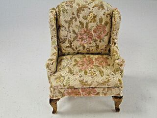 """Chair For Doll Or Bear Made By Bearland 3.  75 """" H X 2.  75 """" W"""