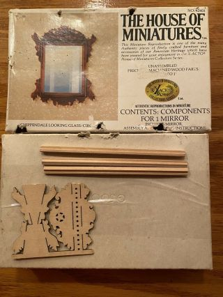 The House Of Miniatures - 42403 Chippendale Looking Glass - Missing Parts