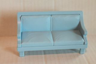 Fisher - Price Loving Family Dollhouse Furniture Blue Sofa Living Room Couch