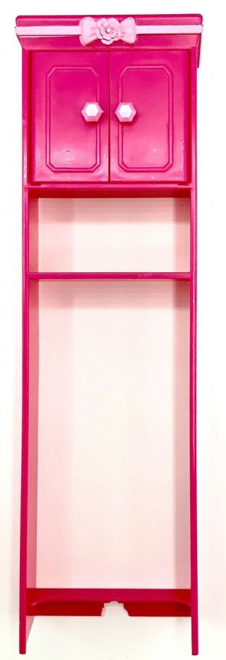 Barbie Doll Pink Bathroom Cabinet Dream House Townhouse Furniture Dollhouse