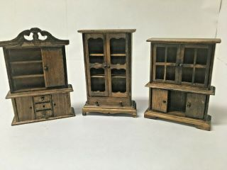 """Doll House Furniture 6 """" Tall China Cabinets"""