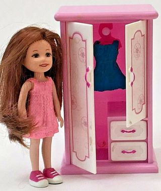 Lil Kidz Doll & Wardrobe With Two Dresses: 1:12 Kelly Chelsey Sized