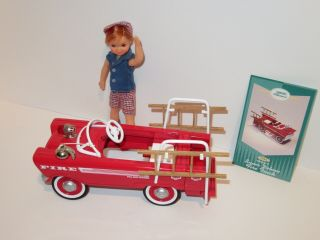 Hallmark 1962 Murray Deluxe Fire Truck Pedal Car Fits Tutti,  Todd & Chis