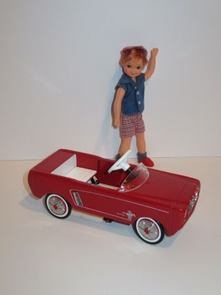 Hallmark Red 1964 1/2 Ford Mustang Pedal Car Fits Tutti Todd Chris And Friends