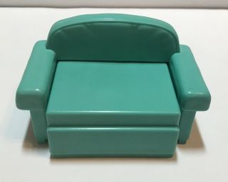 2001 Mattel Barbie Furniture Accessory Pull Out Turquoise Chase Lounge Chair