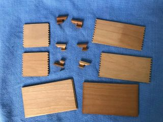 Dollhouse Miniature Wooden Chest Kit Finger Joints Colonial Mitered Legs 1:12