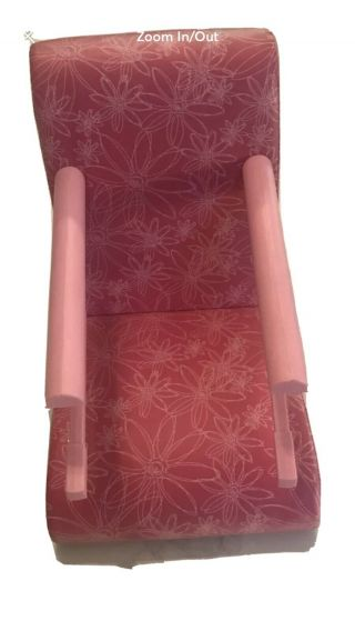 American Girl Treat Seat Pink Stars Clip On Table Booster Chair