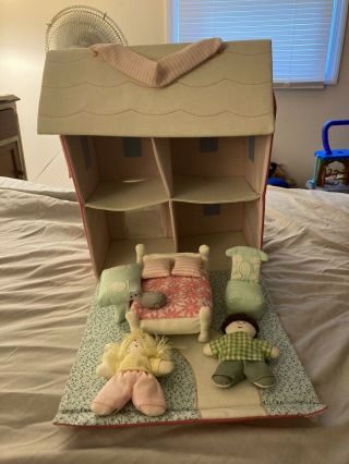 Soft Plush Girls Doll House With Accessories Dolls Girls Imaginary Play Fun