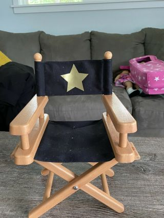 Anerican Girl Doll Director Chair And Accessories