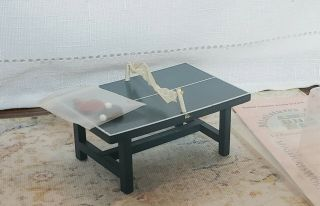 Dollhouse Miniature 1:12 Small Game Table Ping Pong